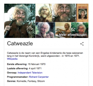 Catweazle (oogst zoeken via Google)